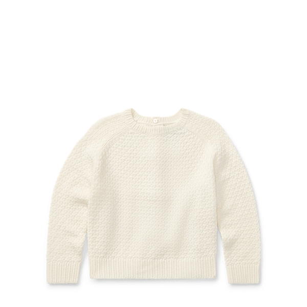 Ralph Lauren Seed-Stitched Bow-Back Sweater Cream 5