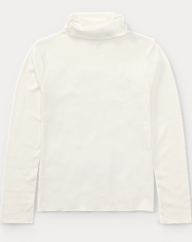 Ribbed Cotton-Blend Turtleneck