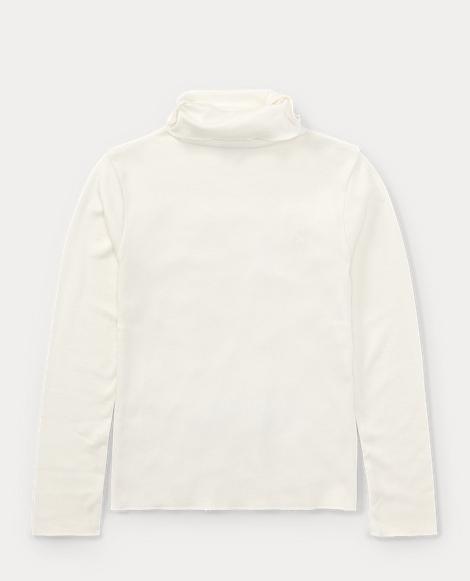 Ribbed Cotton-Blend Turtleneck
