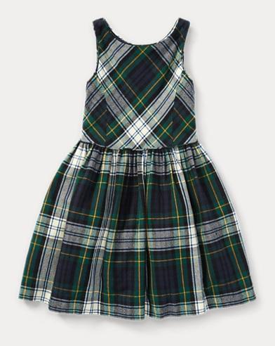 Tartan Fit-and-Flare Dress