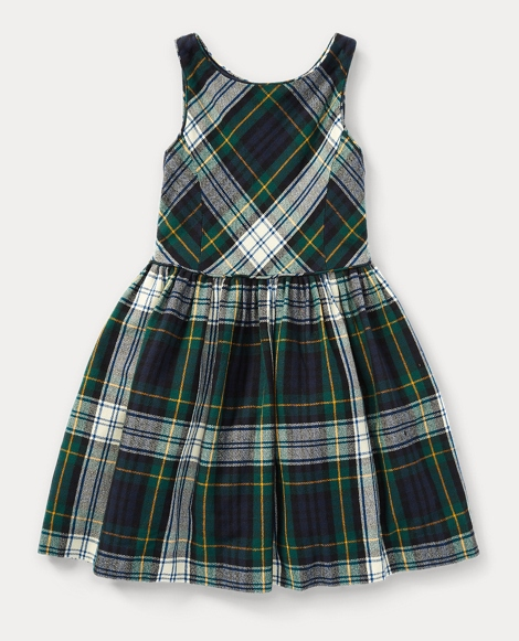 Tartan Fit-and-Flare Dress