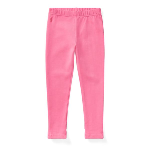 Ralph Lauren Bow-Back Jersey Legging Baja Pink 2T