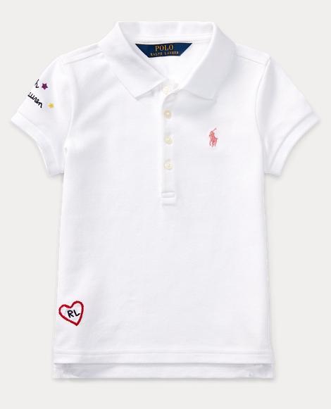 Embroidered Cotton Piqué Polo