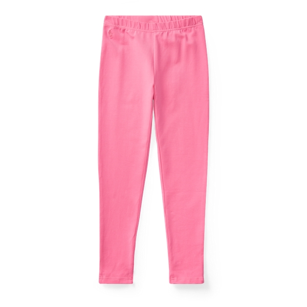 Ralph Lauren Bow-Back Jersey Legging Baja Pink L
