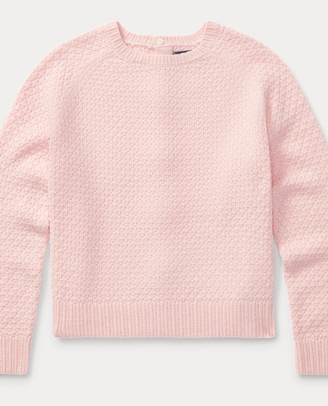 Seed-Stitched Bow-Back Sweater