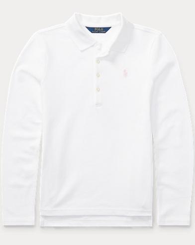 Cotton Long-Sleeve Polo