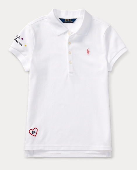 Embroidered Cotton Piqué Polo
