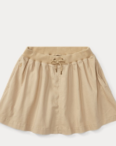 Chino Drawstring Skirt