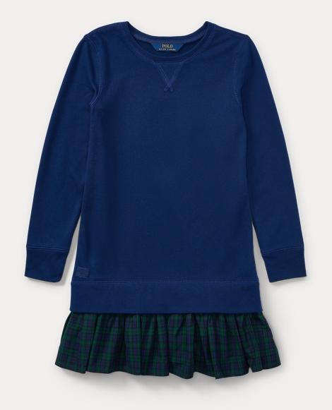 Ruffled-Hem Fleece Dress
