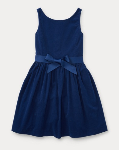 Corduroy Fit-and-Flare Dress