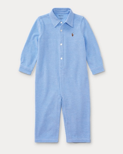 Knit Cotton Oxford Coverall