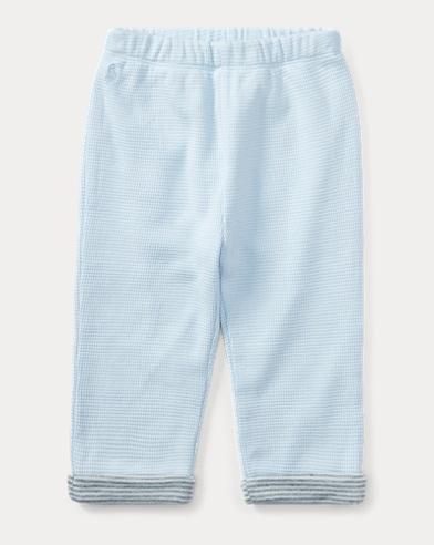 Waffle-Knit Cotton Pant