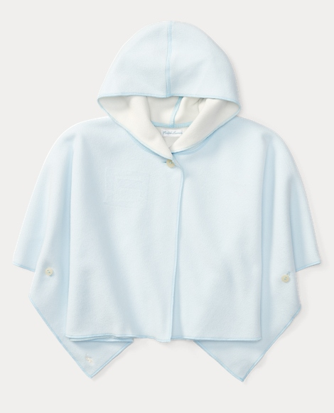 Fleece Hooded Poncho
