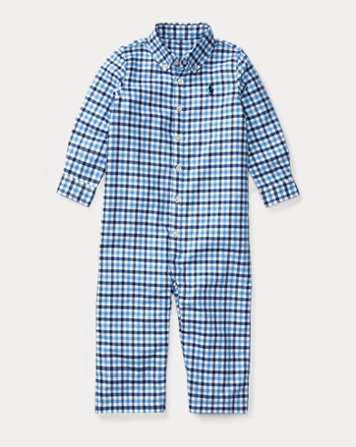 Gingham Cotton Oxford Coverall