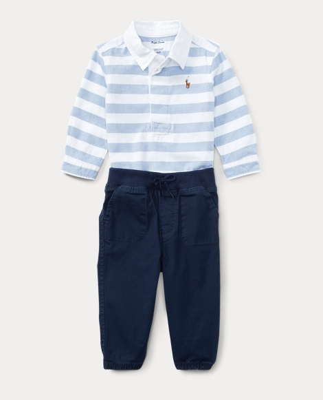 Striped Shirt & Jogger Set