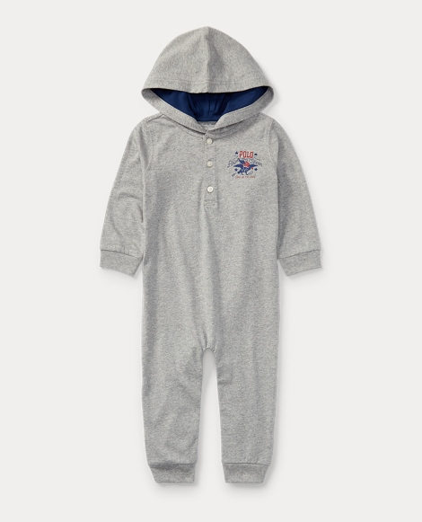 Hooded Cotton Jersey Coverall