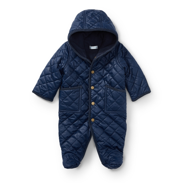Ralph Lauren Quilted Bunting French Navy 9M