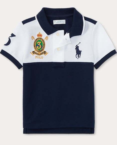 Color-Blocked Cotton Polo