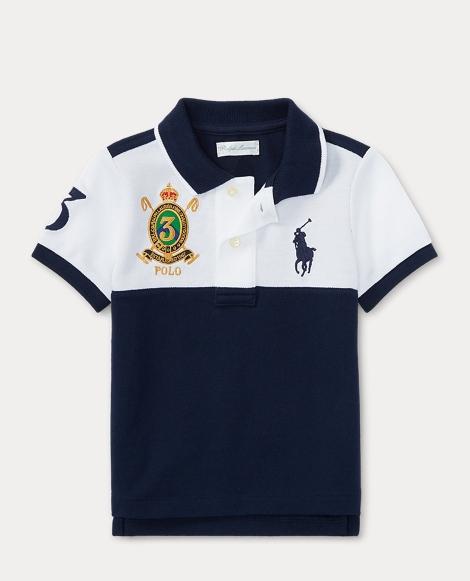 Color-Blocked Cotton Polo
