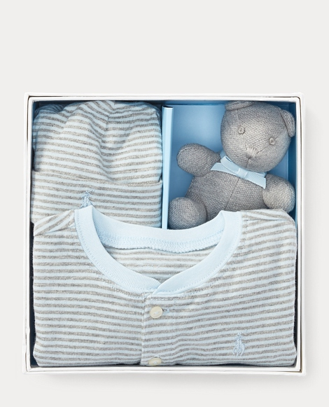 Coverall, Hat & Bear Gift Set