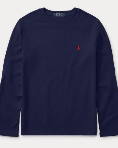 Waffle-Knit Cotton T-Shirt