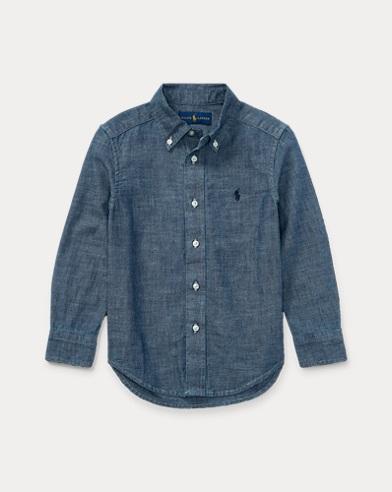 Indigo Cotton Chambray Shirt