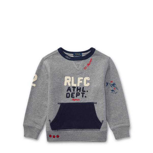 Ralph Lauren Cotton Graphic Sweatshirt Vesper Grey Heather 2T
