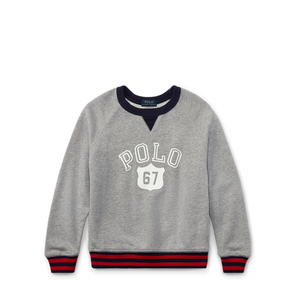 Ralph Lauren Cotton Graphic Sweatshirt Andover Heather 2T