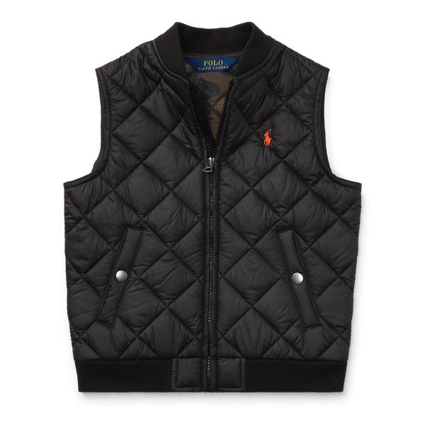 Ralph Lauren Quilted Vest Polo Black 2T
