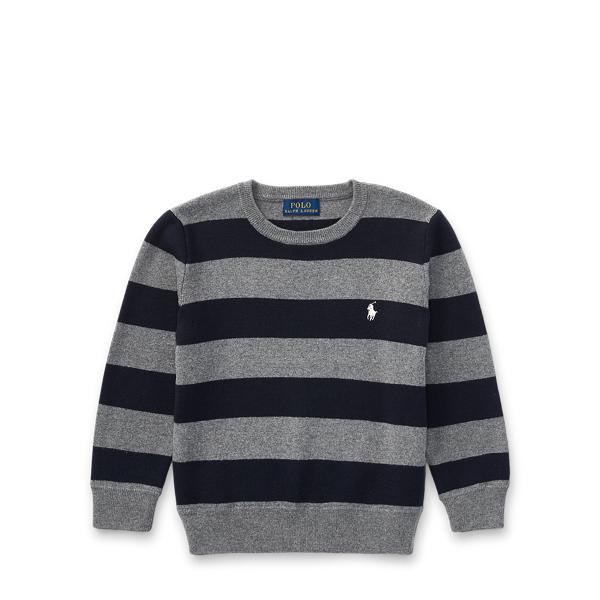 Ralph Lauren Striped Cotton Sweater Gents Heather Multi 2T