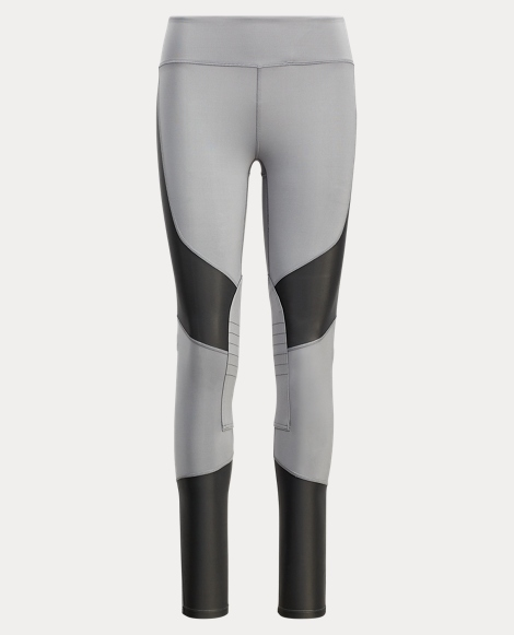 Mesh-Paneled Legging