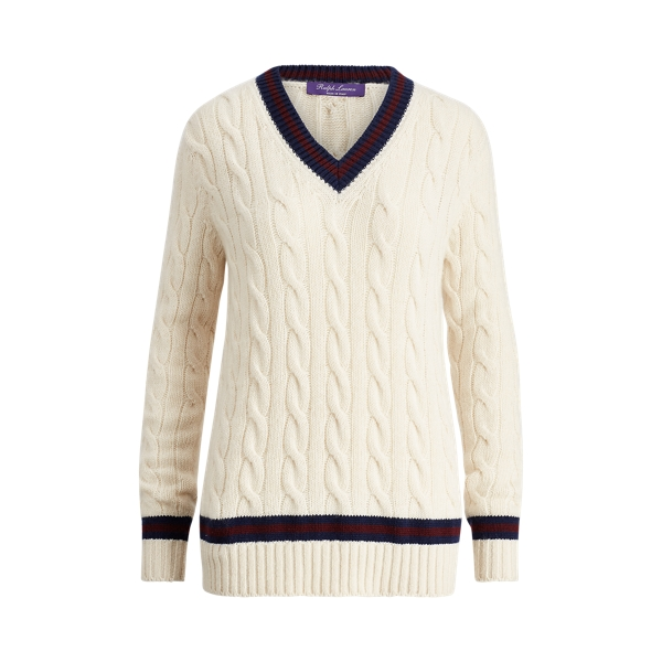 Ralph Lauren The Cricket Sweater Cream/Bordeaux/Navy S