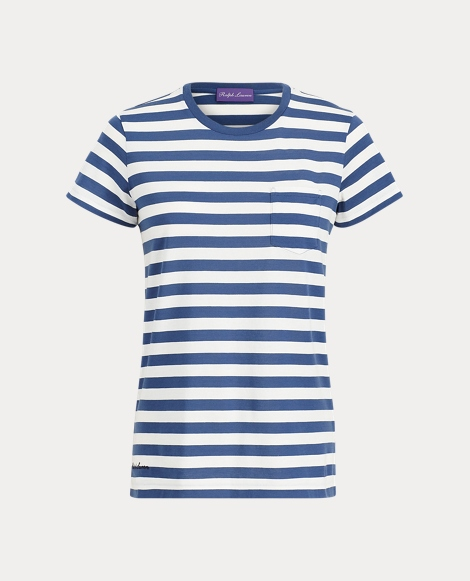 Striped Crewneck Pocket Tee