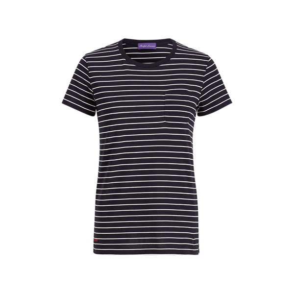 Ralph Lauren Striped Crewneck Pocket Tee Midnight/Cream S