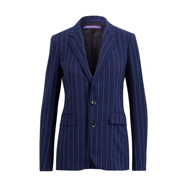 Ralph Lauren Fabian Pinstripe Wool Jacket Navy/Cream 4