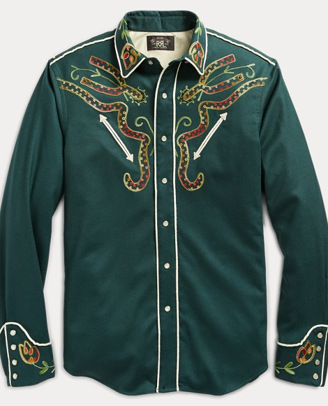 Stretch Wool Western Shirt