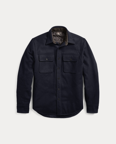 Wool Melton Shirt Jacket