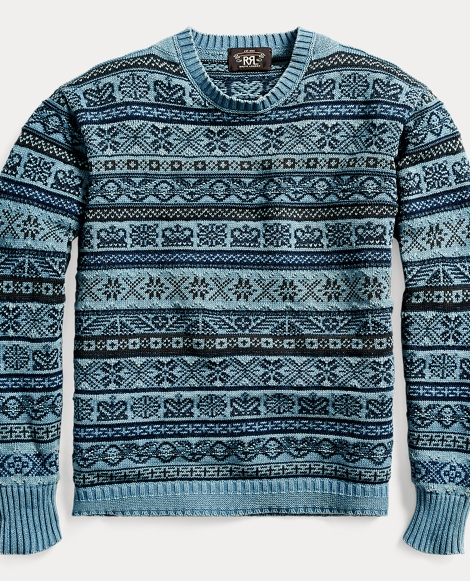 Indigo Military Cotton Sweater