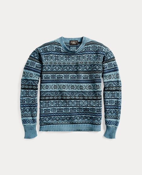 Indigo Military Cotton Sweater