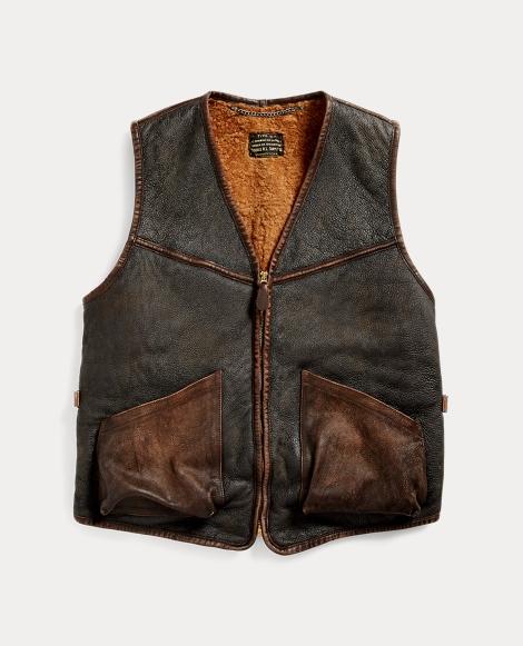 Shearling Full-Zip Vest