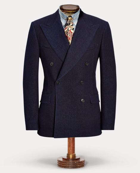 Indigo Western Suit Jacket