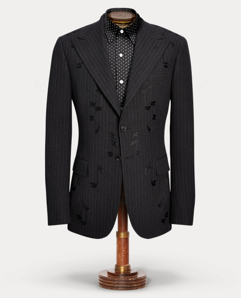 Embroidered Merino Suit Jacket