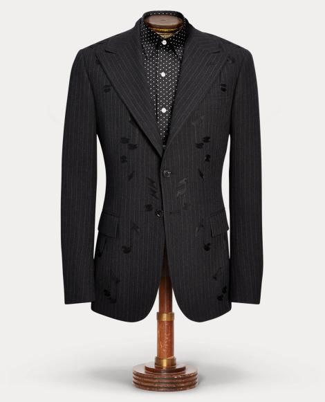 Embroidered Merino Suit Jacket