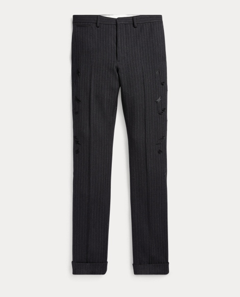 Slim Embroidered Suit Trouser