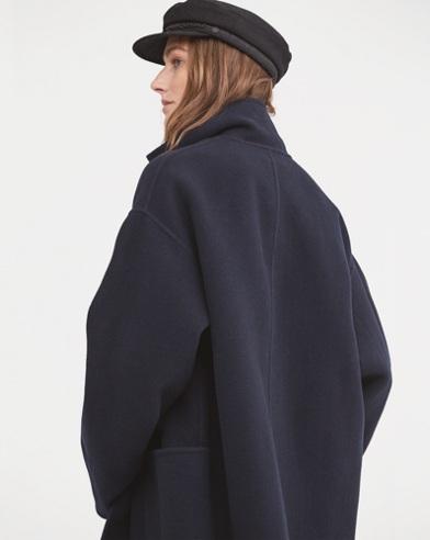 Single-Button Wool Coat