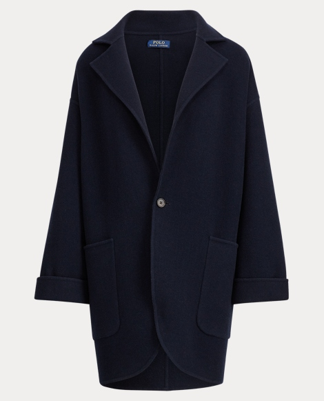 Single-Button Wool Coat