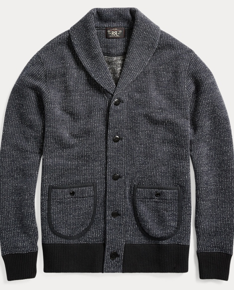 Cotton-Blend-Fleece Cardigan