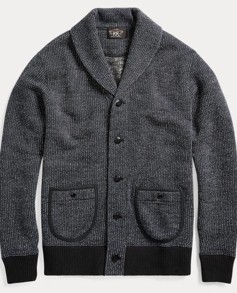 Cotton-Blend-Fleece Cardigan