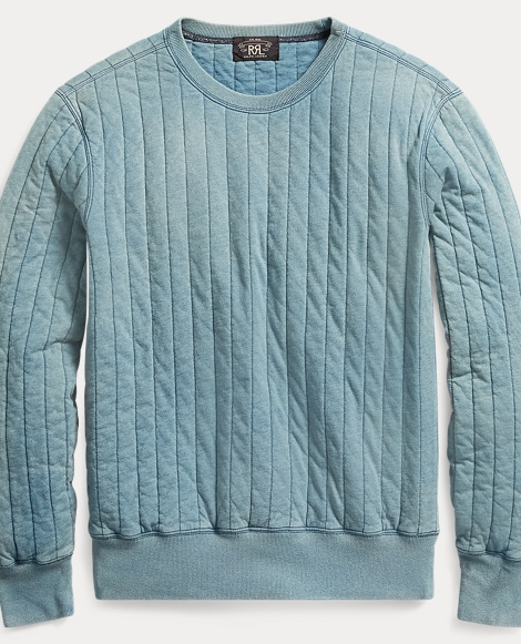 Quilted Cotton Sweatshirt