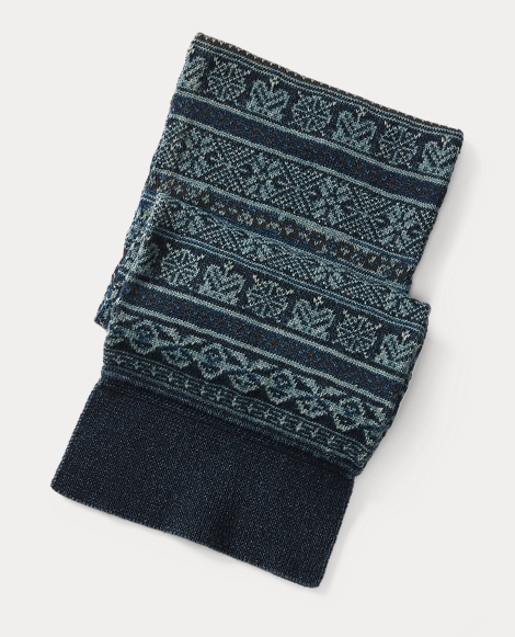 Fair Isle Cotton Scarf